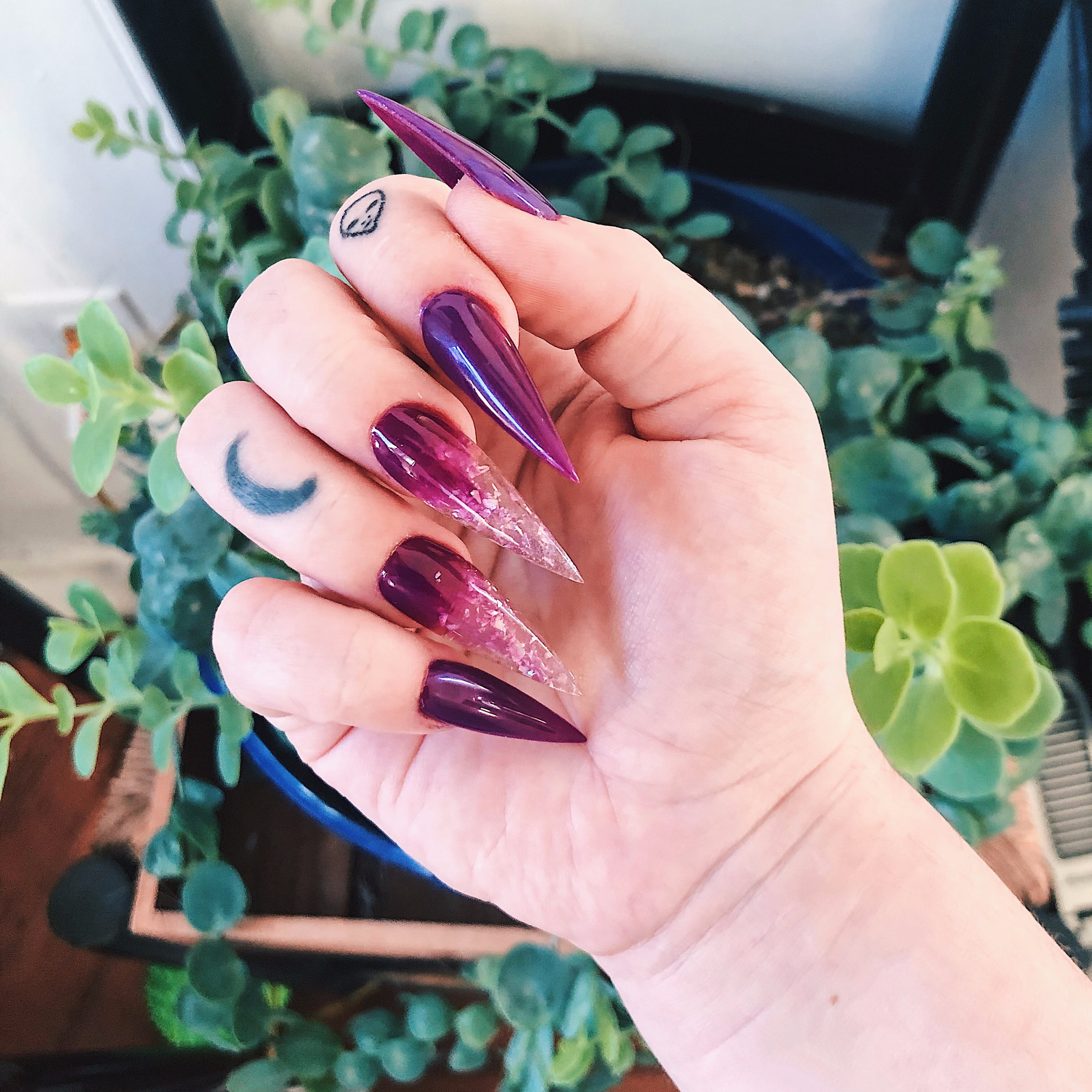 Purple Ice Nails \u2013 The Blair Bitch